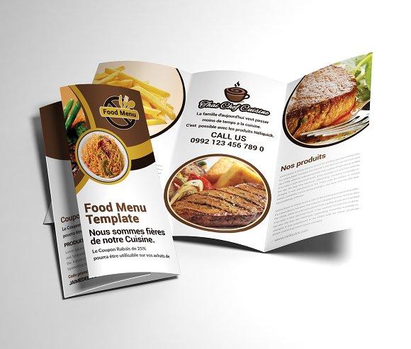 Trifold Brochure Restaurant Cafe