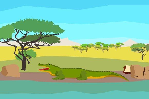Crocodile near the river
