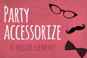 Party Accessorize-moustache,glasses