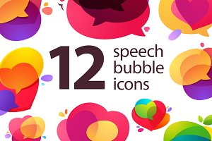 12 speech bubble icons