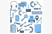 Set isolated office appliances