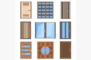 Set isolated combined doors