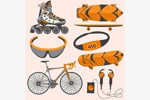 Sports equipment rollerblades