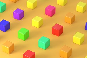 Colored cubes