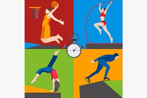 Athletes skater