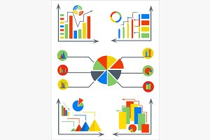 Infographics set elements charts