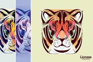 Lioness | vector print