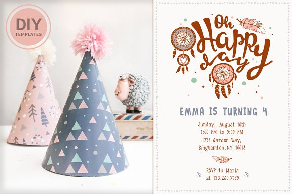 Printable Boho Birthday Party Kit