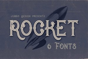 Rocket- Vintage Style Font