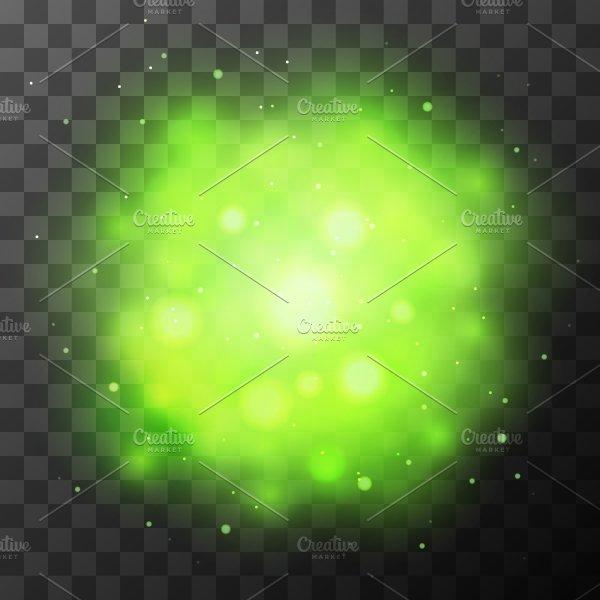 Green Bright Light, Magic Effect