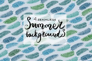4 seamless summer backgrounds