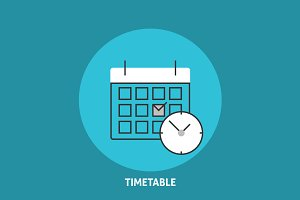 Timetable vector illustration