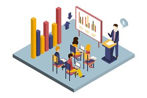 Presentation or Meeting Isometric