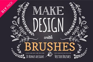 65 DIY Floral brushes + 10 logos