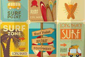 surfing posters collection