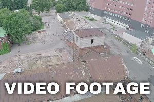 Aerial view of old abandoned