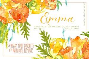 Emma Watercolor Clipart