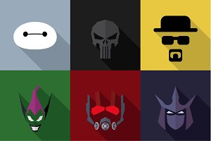 SuperHeroes Masks Flat (Set 10)