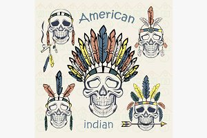Indians set skulls