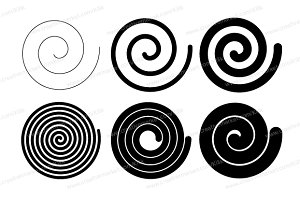 Perfect Vector Spiral, Coil, Spring