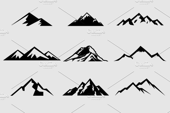 mountain shapes for logos vol 1 shapes for graphic design