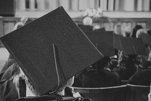 Back of graduates