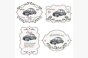 Set of vintage car cards