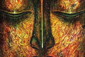 Buddha oil paint on canvas