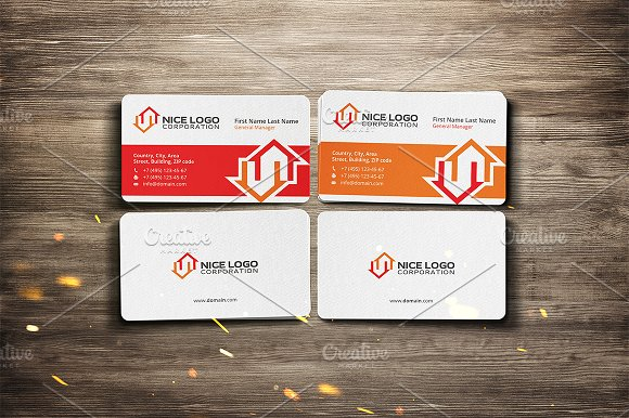 two houses business card