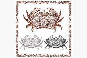 Ornamental decorative crab