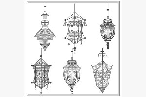 Set of ethnic ornamental