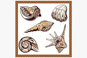 Set decorative ornamental ethnic