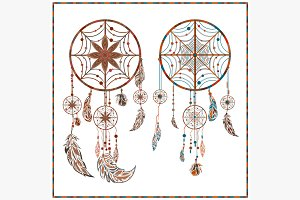 Dream catcher ethnic ornament