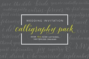 Wedding Invitation Calligraphy Pack