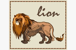 Beast Lion isolated