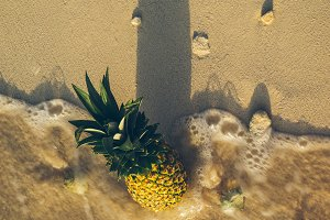 Pineapple at Beach in Mexico 17