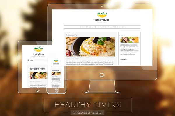 Healthy Living-Fresh Blogging Theme