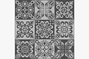 Tracery patchwork pattern Moroccan