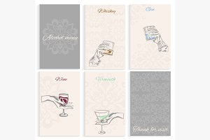 Set pages alcohol menu