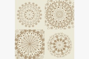 Set circular round ornaments