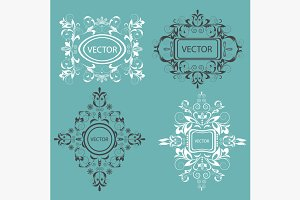 Set monogram design elements
