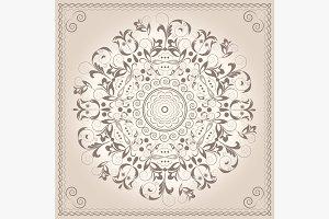 Mandala ornament circular