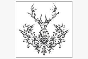 Logo graphic deer