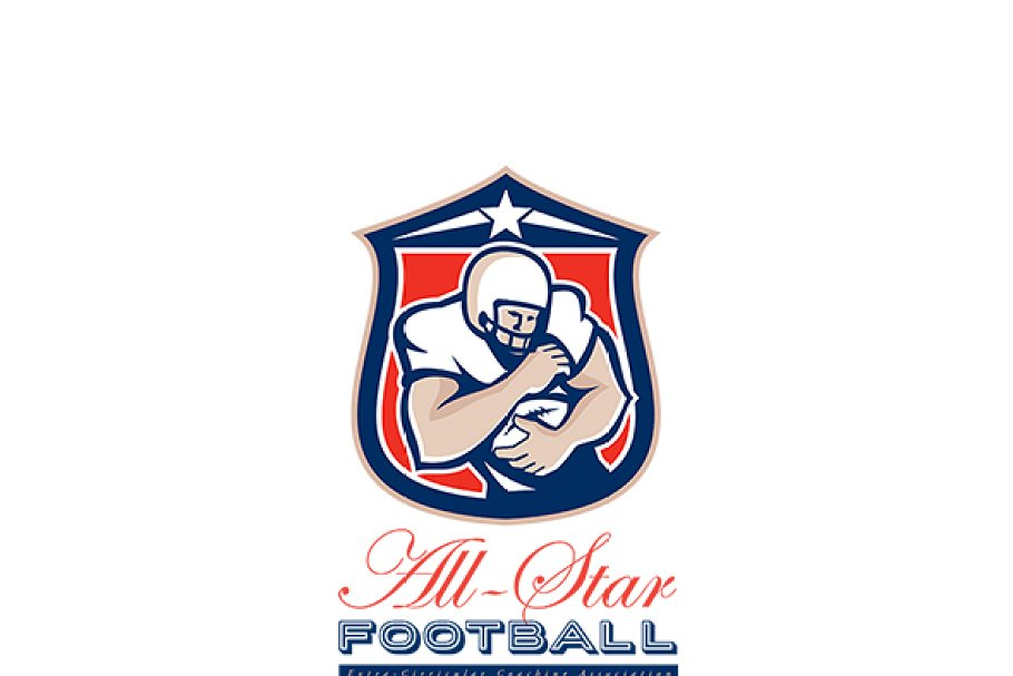 fe63c9b810c All-Star American Football Coaching ~ Logo Templates ~ Creative Market