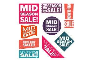 Mid-season sale retro stickers.