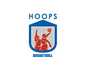 Hoops Basketball Coaching Logo