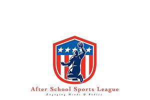After School Basketball League Logo