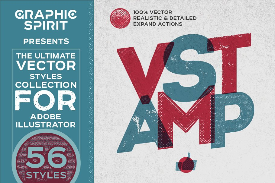 VSTAMP — Vector Stamp Effects Styles ~ Illustrator Add-Ons