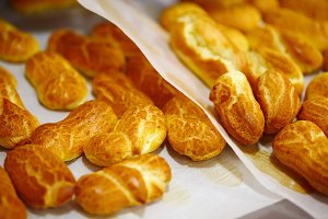 Fresh Baked Eclairs