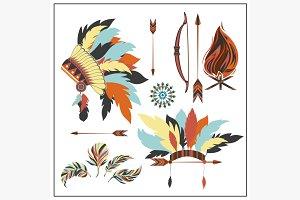 Set ethnic style arrows